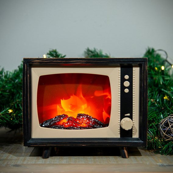 LED Fireplace TV