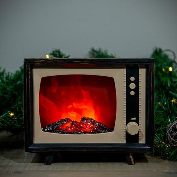 LED Fireplace TV