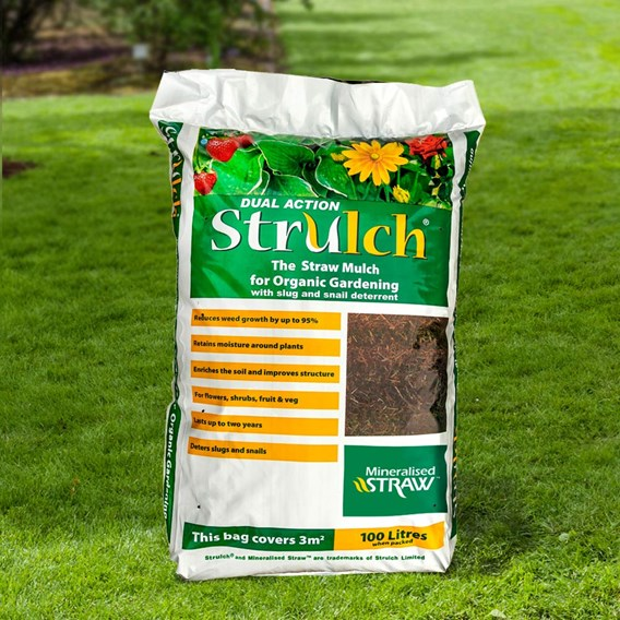 Strulch Mineralised Straw Garden Mulch