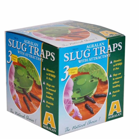 Portable Slug And Snail Traps With Bait (Pack of 3)