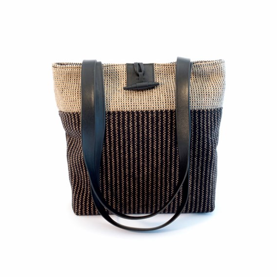 The Head Gardener Black Pinstripe Hat + Pinstripe Bag