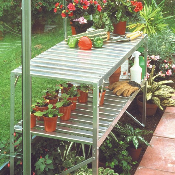 Aluminium Popular 6' x 10' Greenhouse with Horti Glass+Base and Accessories