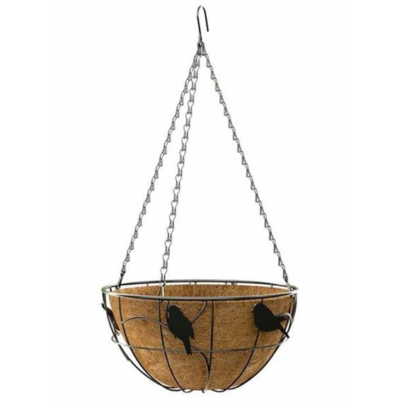 'Perch Bird' - Hanging Basket