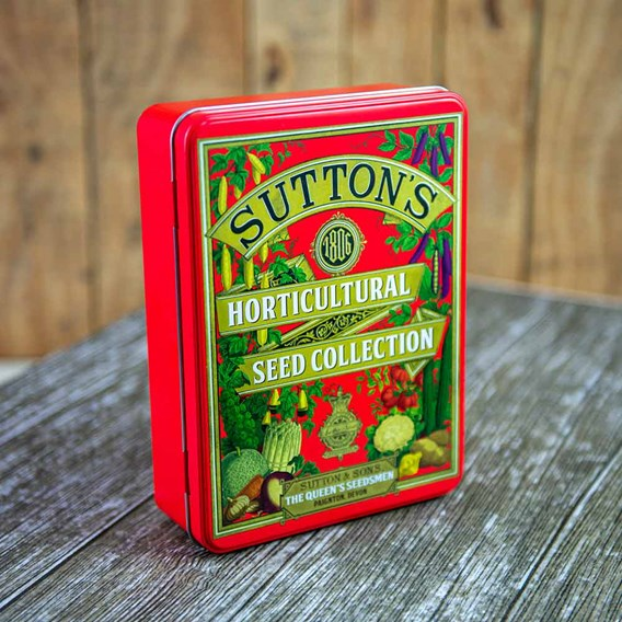 Suttons 1806 Red Seed Tin