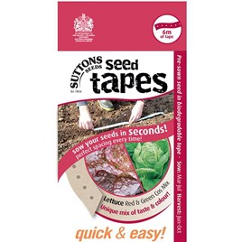 Seed Tape - Lettuce Red & Green Cos Mix