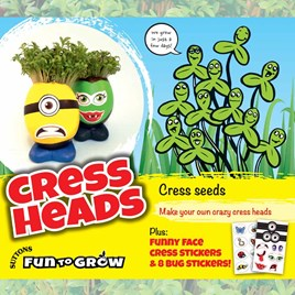 Curled cress - Cress heads