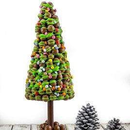 Personalised Malteser Christmas Tree with Green Drizzle