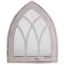 White Wash Gothic Mirror