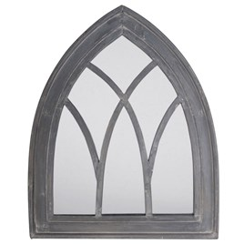 Grey Wash Gothic Mirror