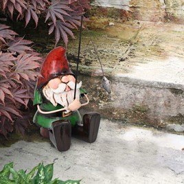 Metal Fishing Gnome