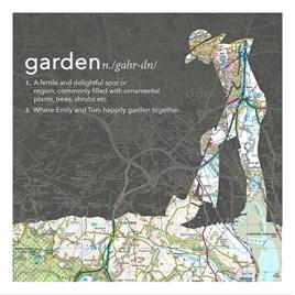 Digging Gardener Dictionary Definition Map