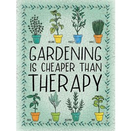 Gardening Therapy Sign