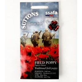 Poppy Lapel Pin Badge with Free 'Field Poppy' Seeds