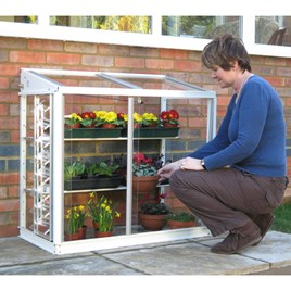 Deluxe Half Mini Greenhouse Arctic White