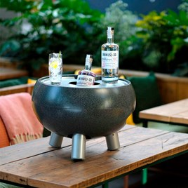 Drinks Cooler Table - Small Charcoal