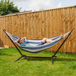 Metal Hammock Stand and Polycotton Hammock