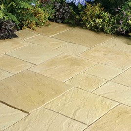 Abbey Paving Random Patio Kit 5.76M2 York Gold
