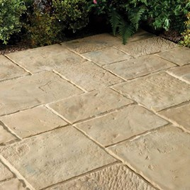 Minster Paving Random Patio Kit 5.76M2 Autumn Brown