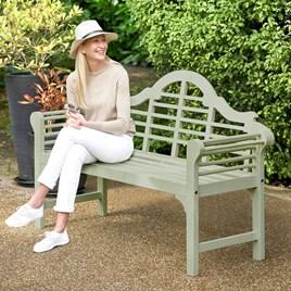 Blade Green Garden Bench