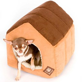 Suede Brown Pet House