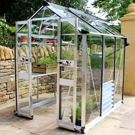 Eden Birdlip 46 Greenhouse - Aluminium 65 x 410 x 70