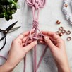 Macrame Plant Hanger Workshop with Prosecco for Two at Posh Totty Designs