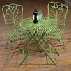 Round Table and Pair of Folding Chairs