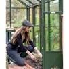 Head Gardener Hat - Black Pinstripe